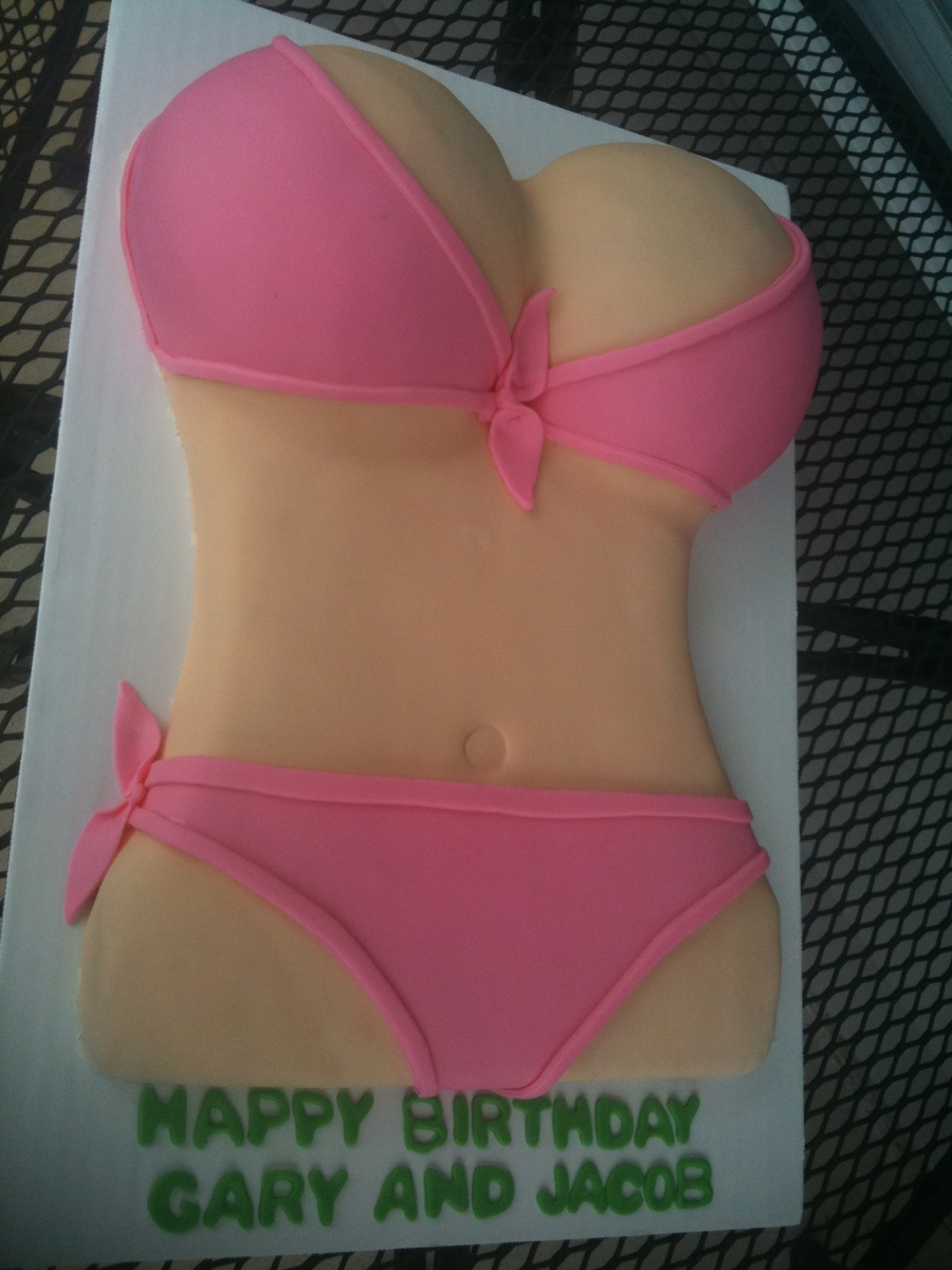 Pink Bikini on Cake Central