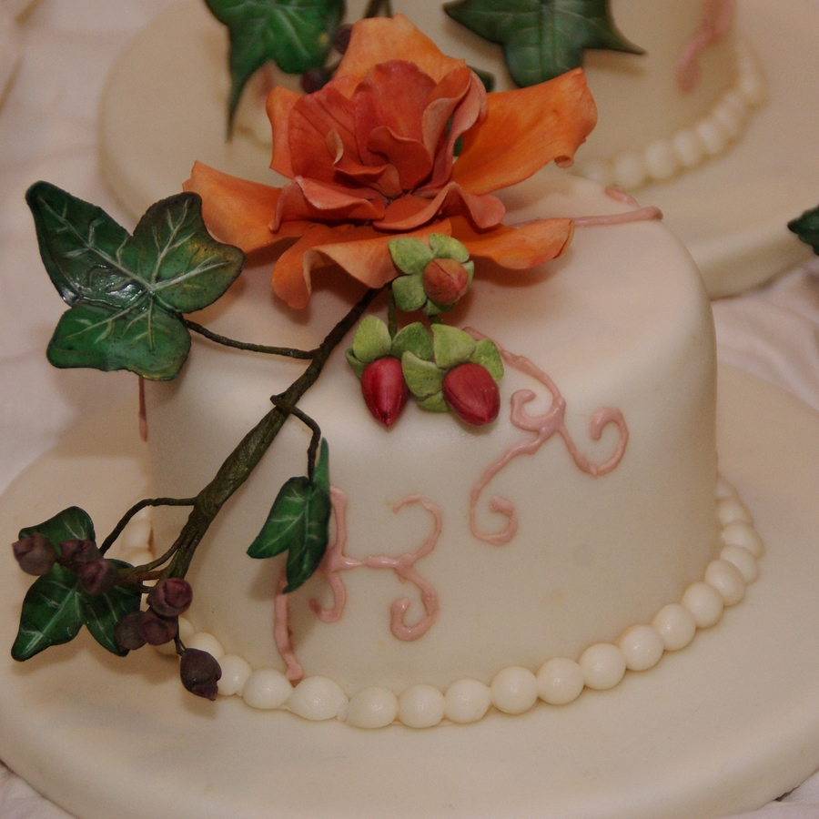 Gumpaste Flowers For Wedding Cakes