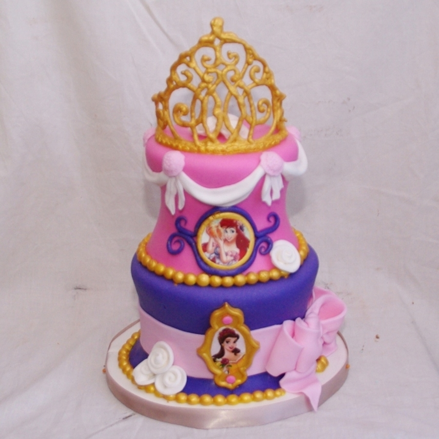 Disney Princess Cake With Tiara CakeCentralcom