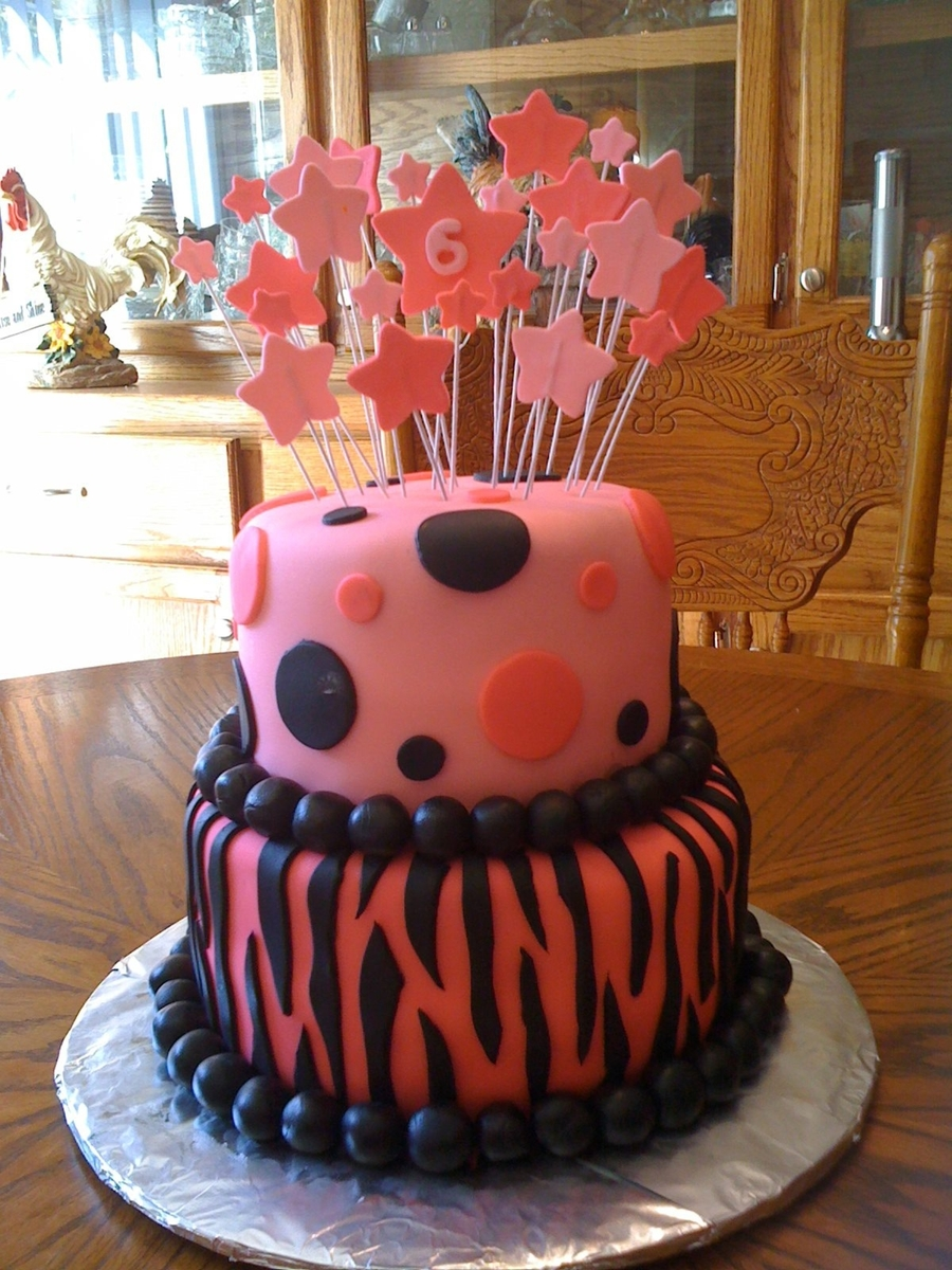 Zebra Print Birthday Cake on Cake Central