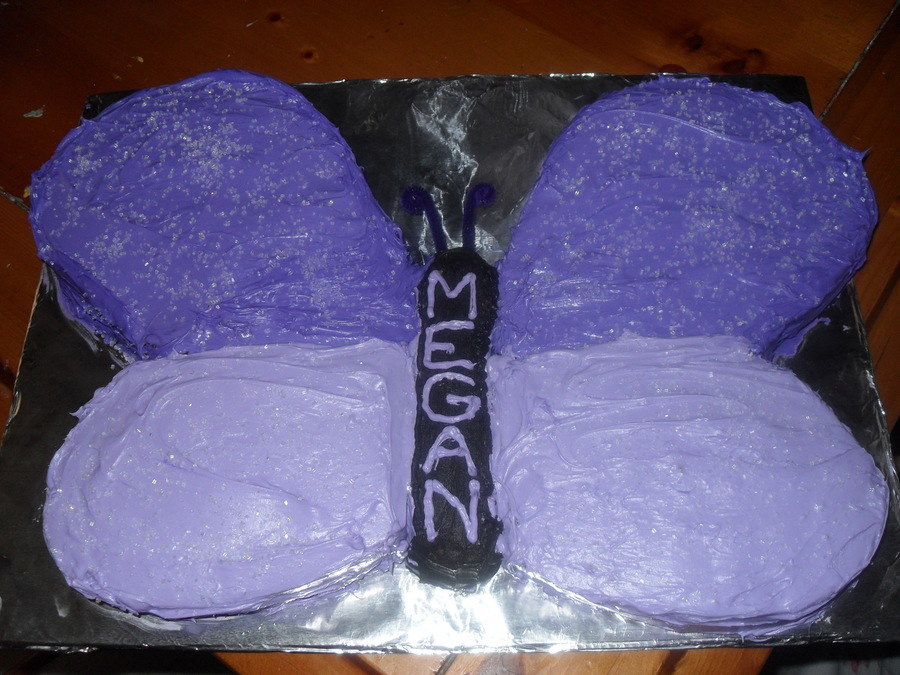 Purple Butterfly on Cake Central