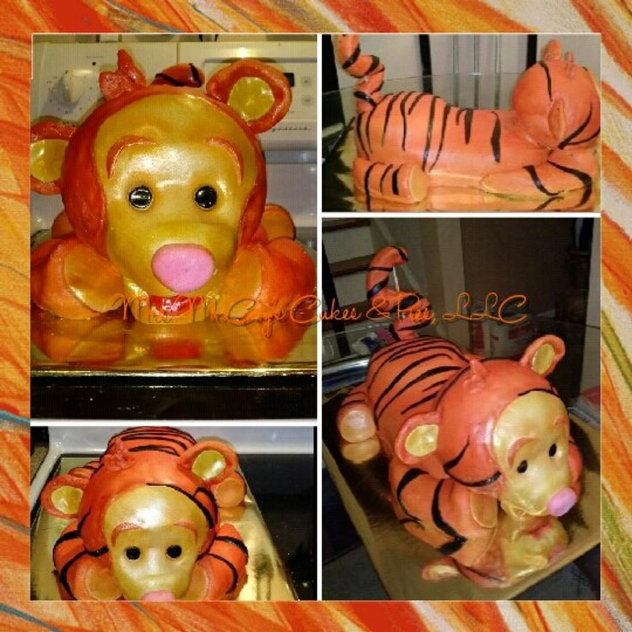 Baby Tigger 3-D Cake on Cake Central