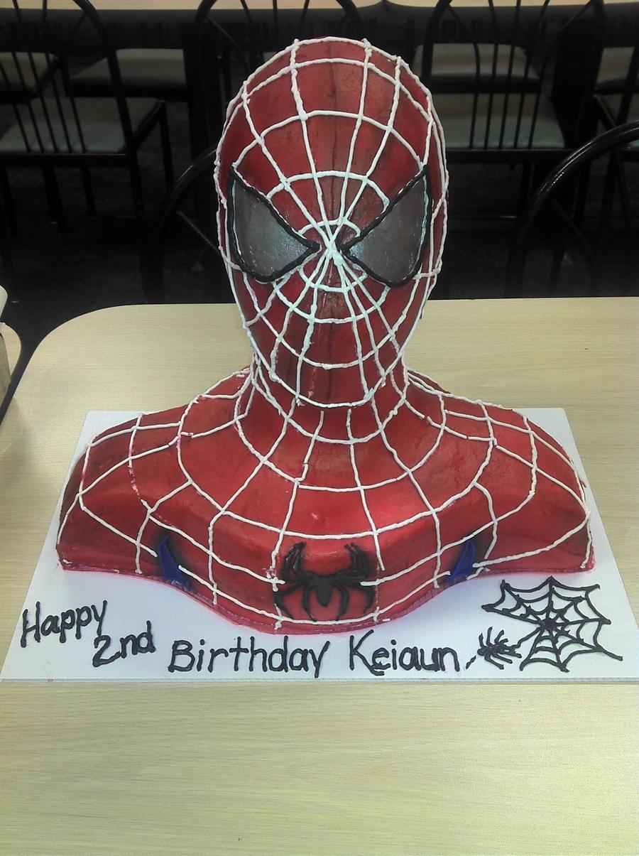 3d Spiderman Amp Batman Bust Cakes Cakecentral Com