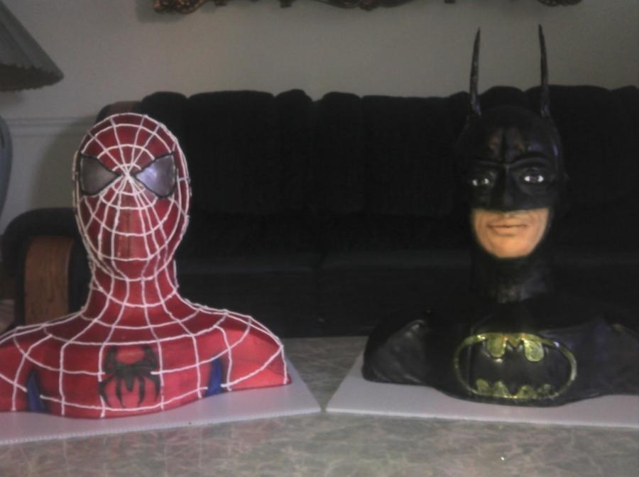 coloring pages batman spiderman cakes - photo#37