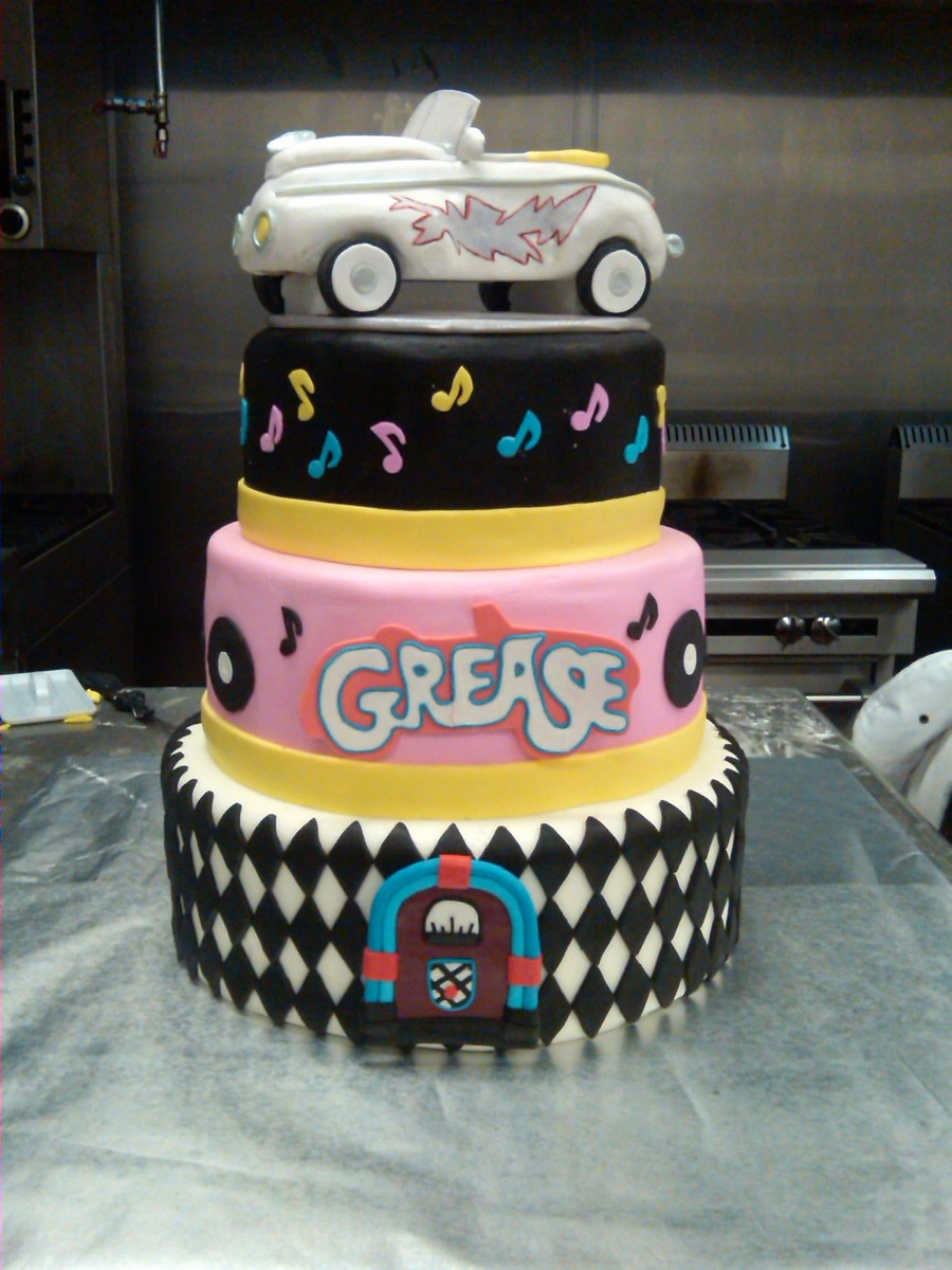 Grease Themed Dummy Cake Cakecentral