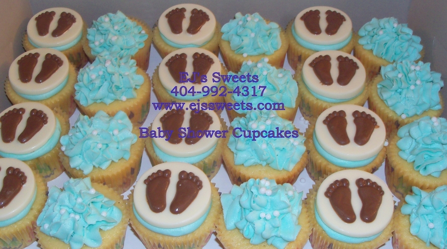 Baby Feet Cupcakes on Cake Central