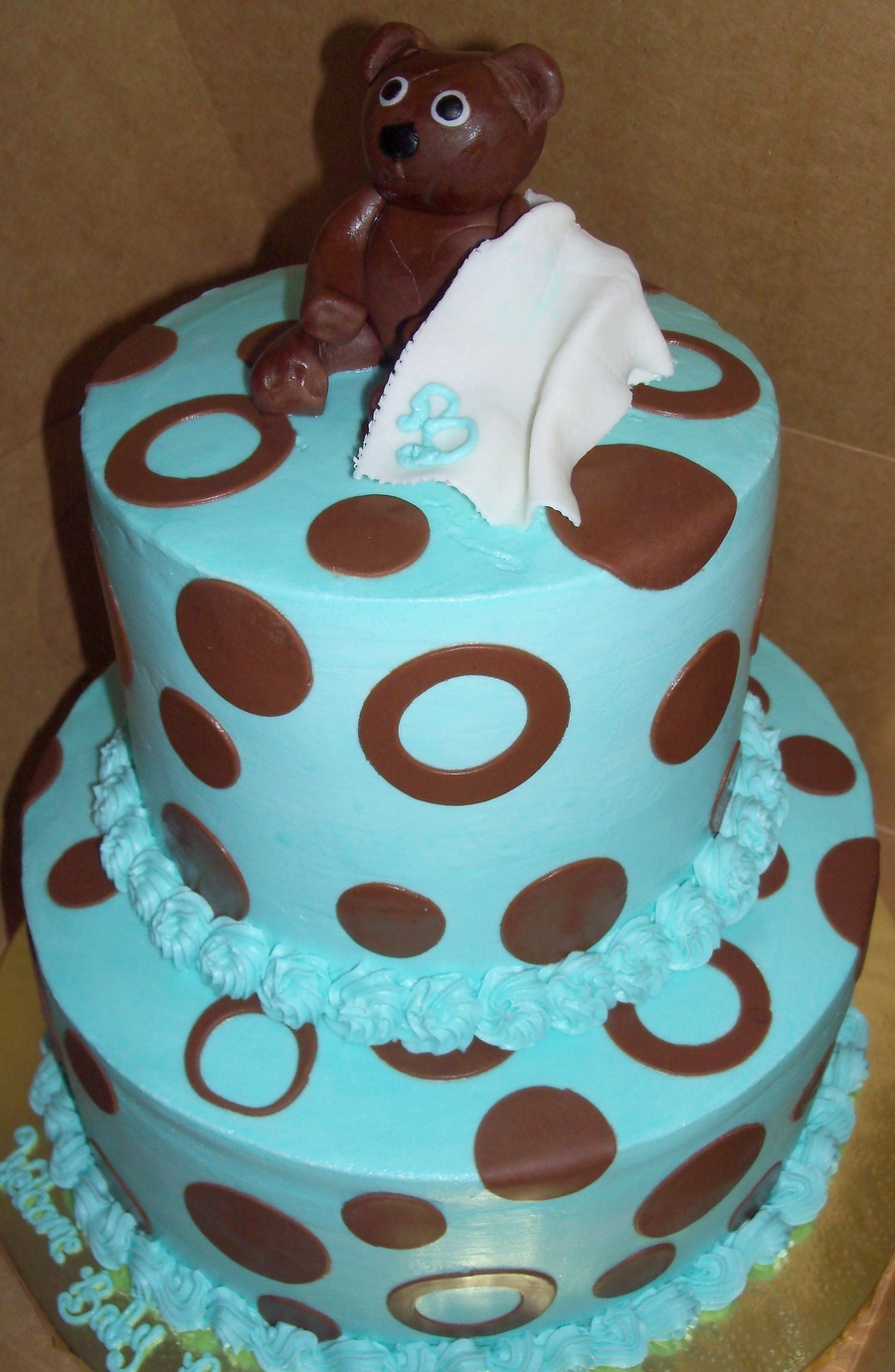Bear Baby Shower Blue on Cake Central