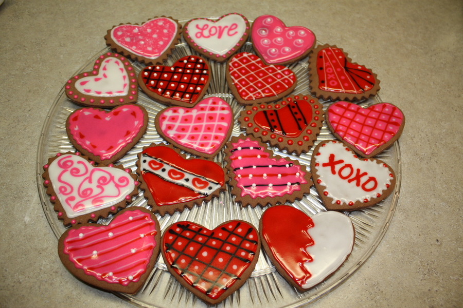 Valentine's Cookies on Cake Central