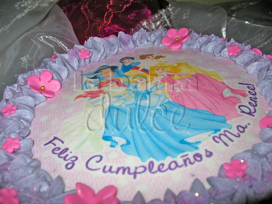 Disney S Princess Cake Pastel De Las Princesas En