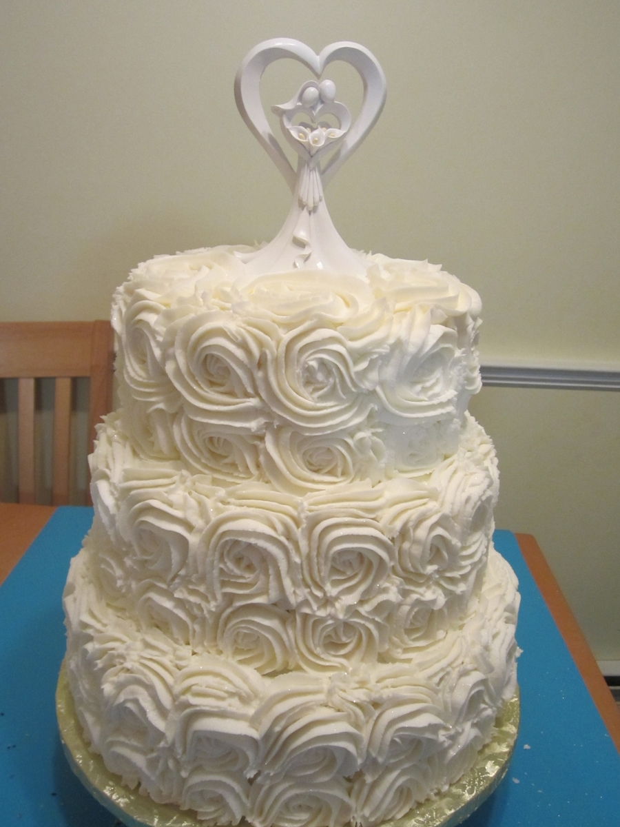 Rose Weddingcake on Cake Central