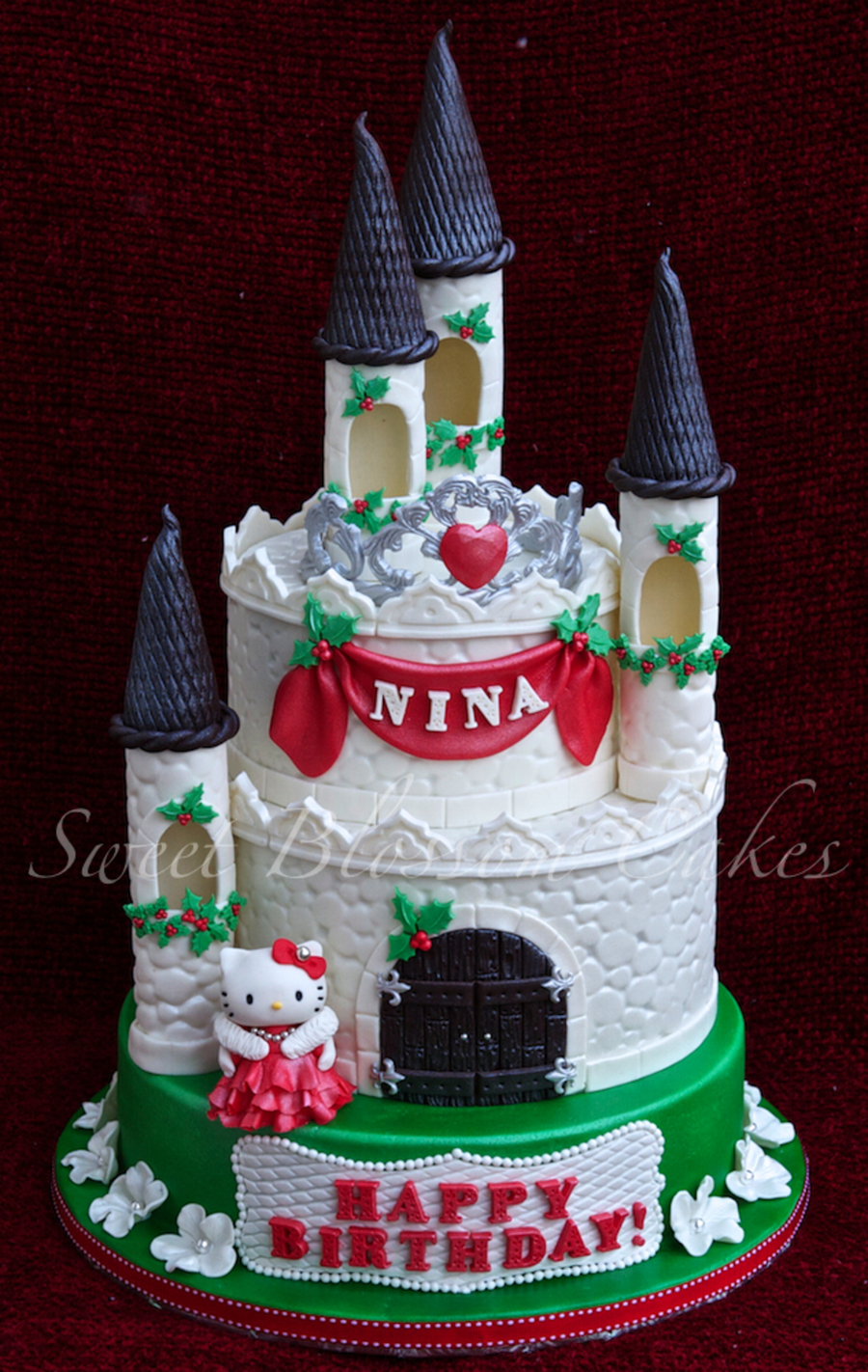 Winter Castle Cake Made It For My Friends Daughter She Had Birthday On Christmas But Got Sick Twice Since Then My Friend Ask Me To Do Ch on Cake Central
