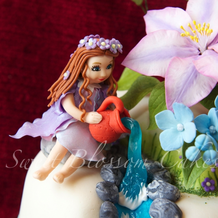 Sugarpaste Fairy Aquarius on Cake Central