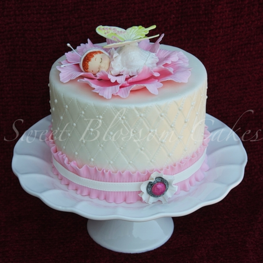 Baby Butterfly Cake on Cake Central
