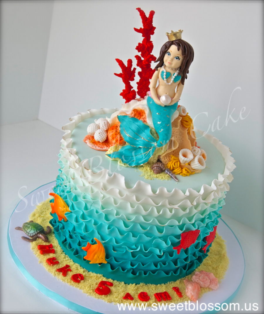 Mermaid Cake For A Little Girl Who Turned 5 Everything