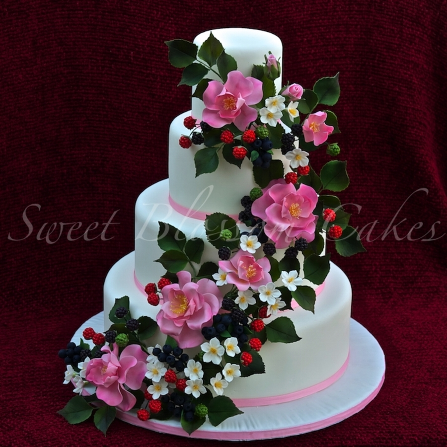 Berries Wedding Cake on Cake Central