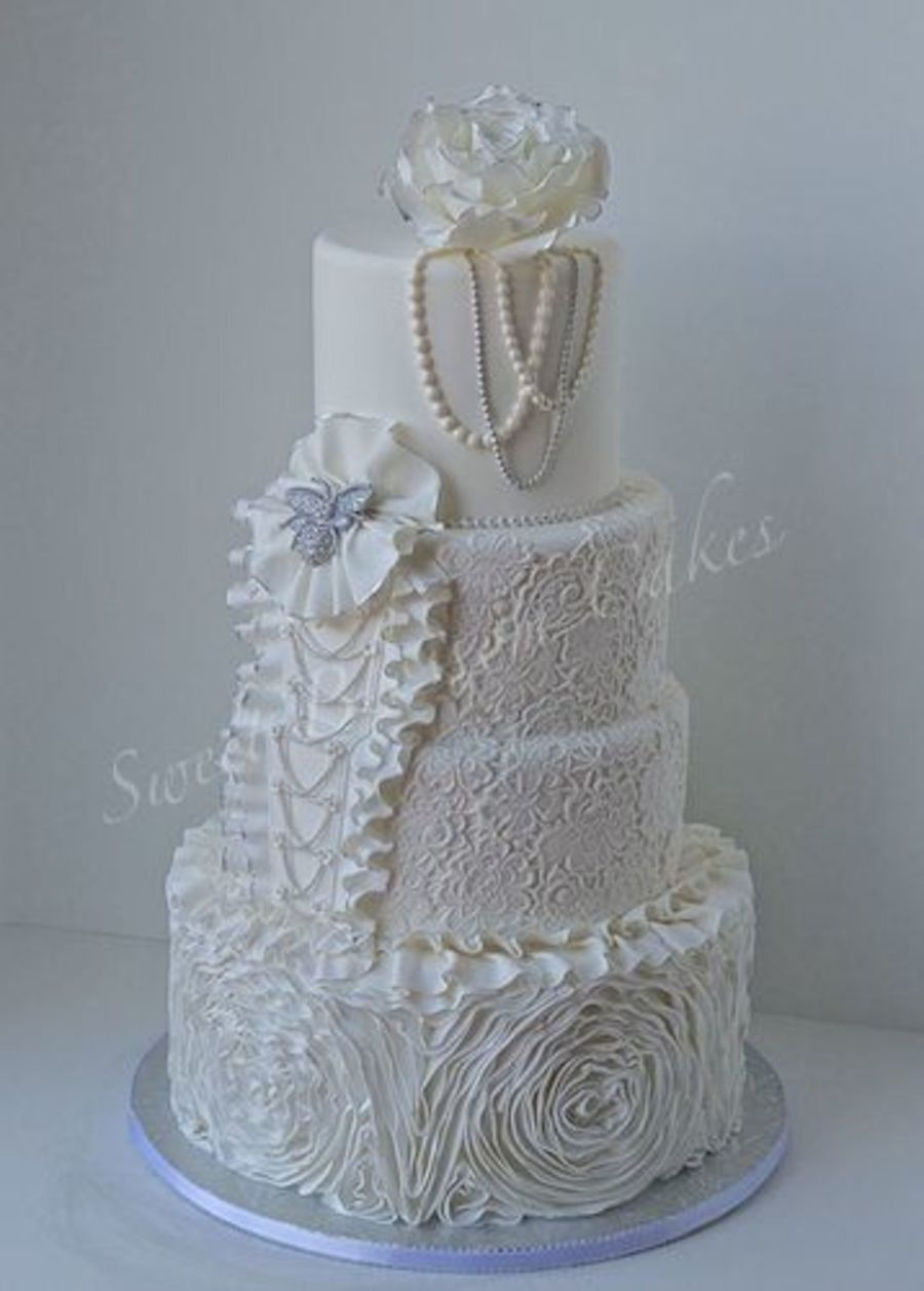 Wedding Cake I Made For National Capital Area Cake Show on Cake Central