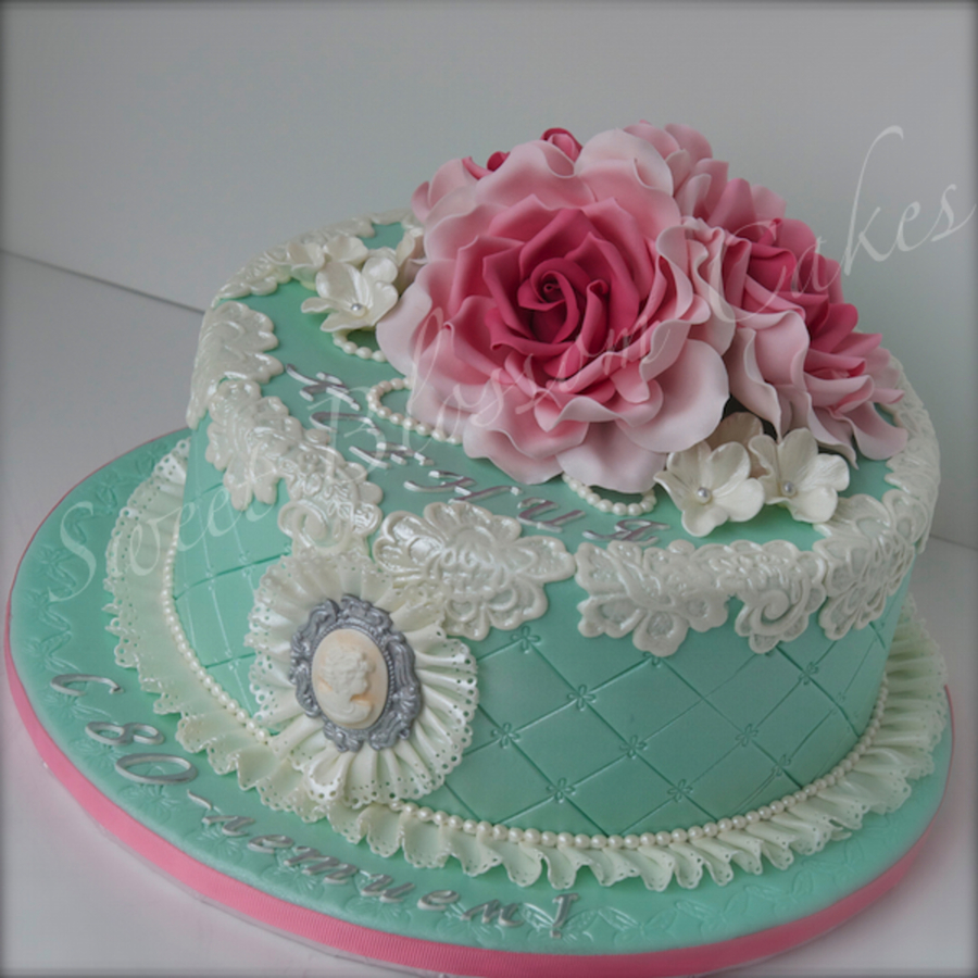 Fabulous Shabby Chic Birthday Cake Cakecentral Com Personalised Birthday Cards Cominlily Jamesorg