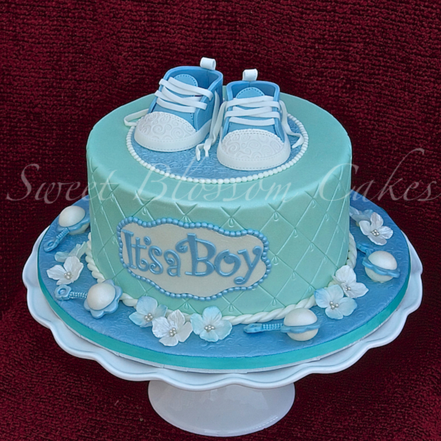 Cake For Baby Shower I Found Template For Bootie Here On Cakecentral Long Time Ago And Finaly Made Them Thanks A Lot For This Template on Cake Central