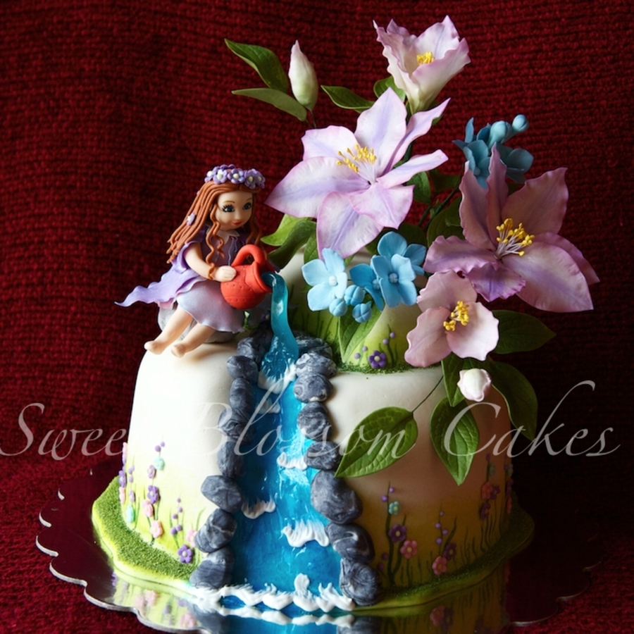 Aquarius Fairy Cake on Cake Central