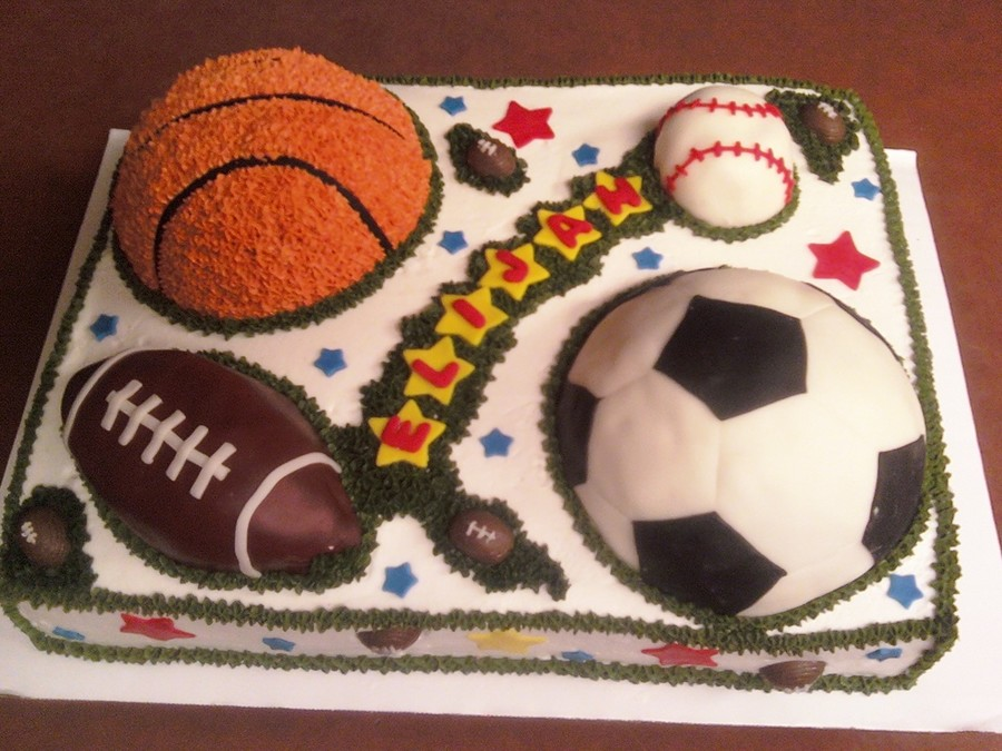 Outstanding Sports Balls Birthday Cake Cakecentral Com Personalised Birthday Cards Veneteletsinfo