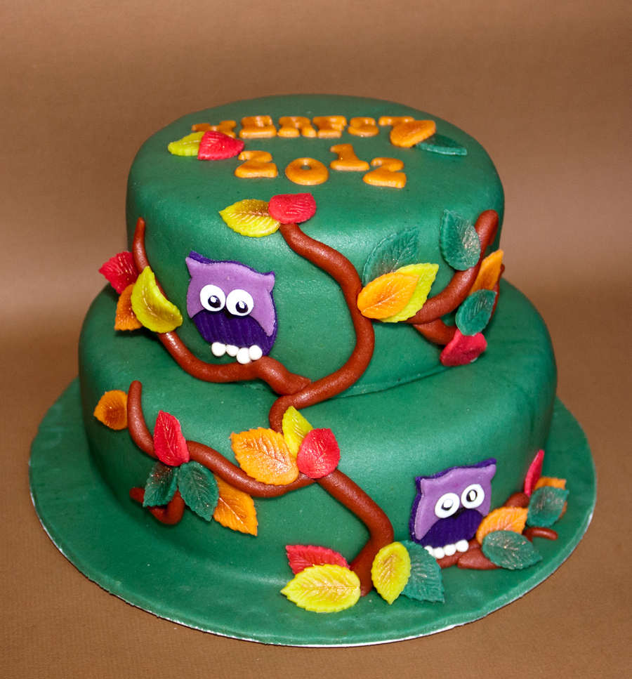 Autumn Owls on Cake Central