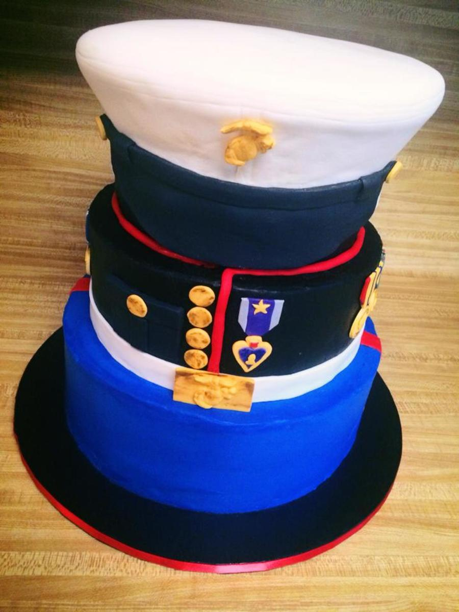 Birthday Cake For A Retired Marine Handmade His 10 Medals