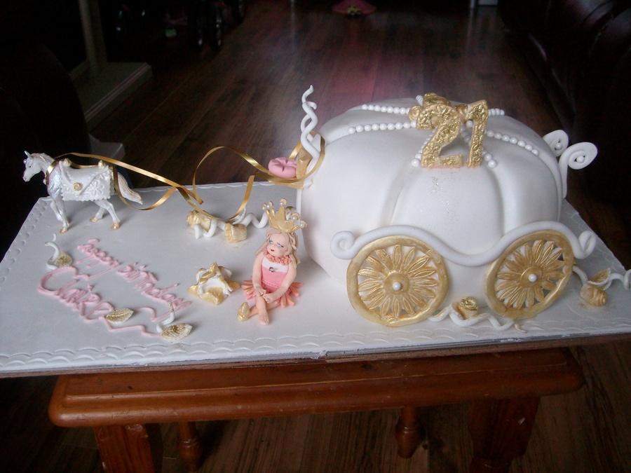 Cinderella Coach Cake CakeCentralcom