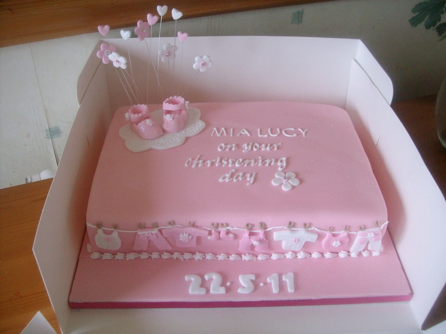 Baby Shower Christening on Cake Central