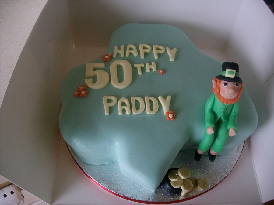 Leprechaun,shamrock on Cake Central