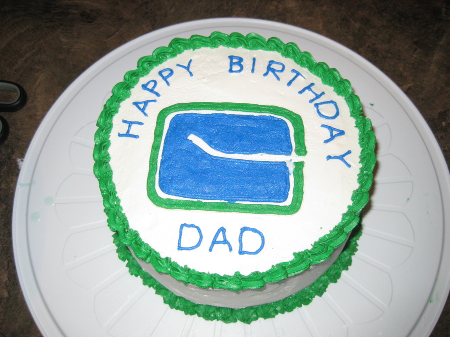 Canucks Birthday Cake on Cake Central