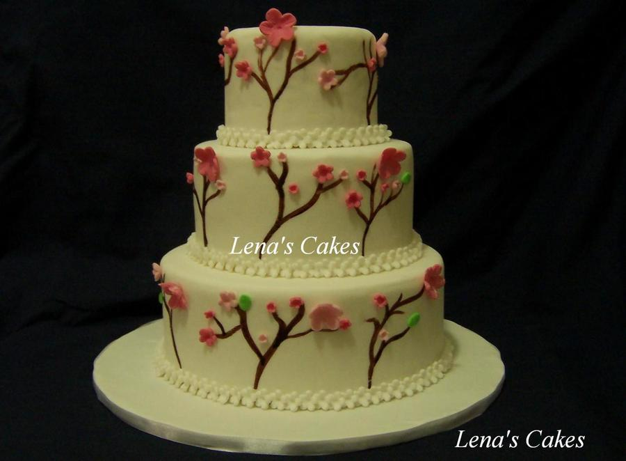 Cherry Blossom Wedding Cakes on Cake Central