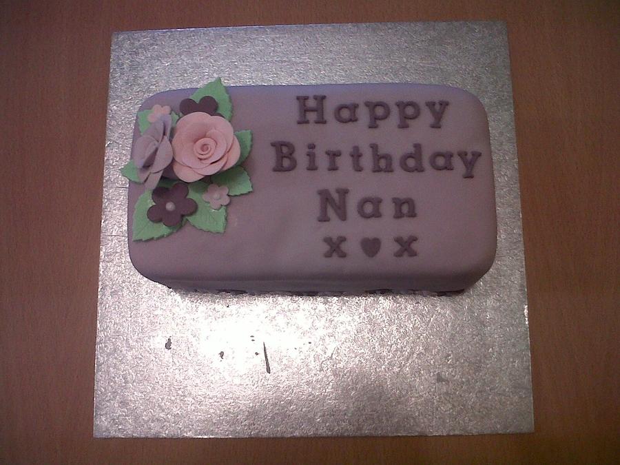 Rectangle Birthday Cake - CakeCentral.com