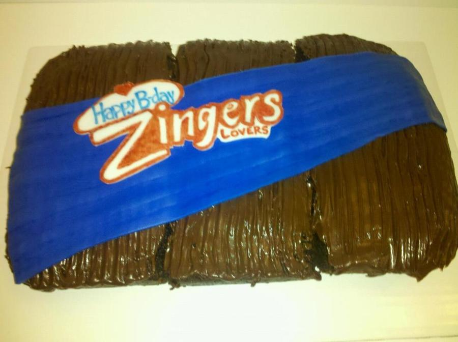 Zingers Cake For My Co-Workers!  on Cake Central