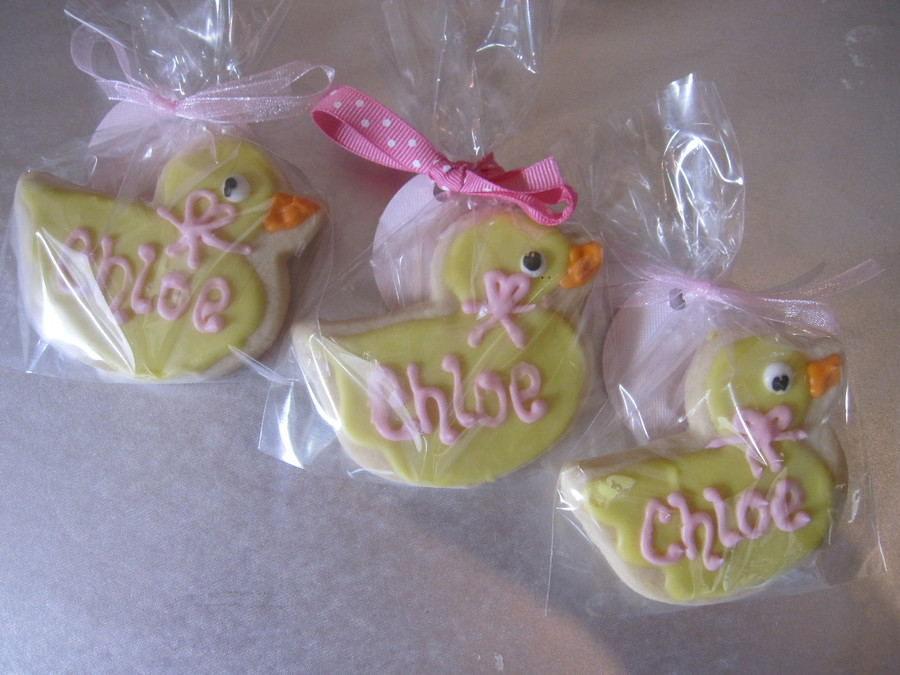 Duck Baby Shower Cookies on Cake Central