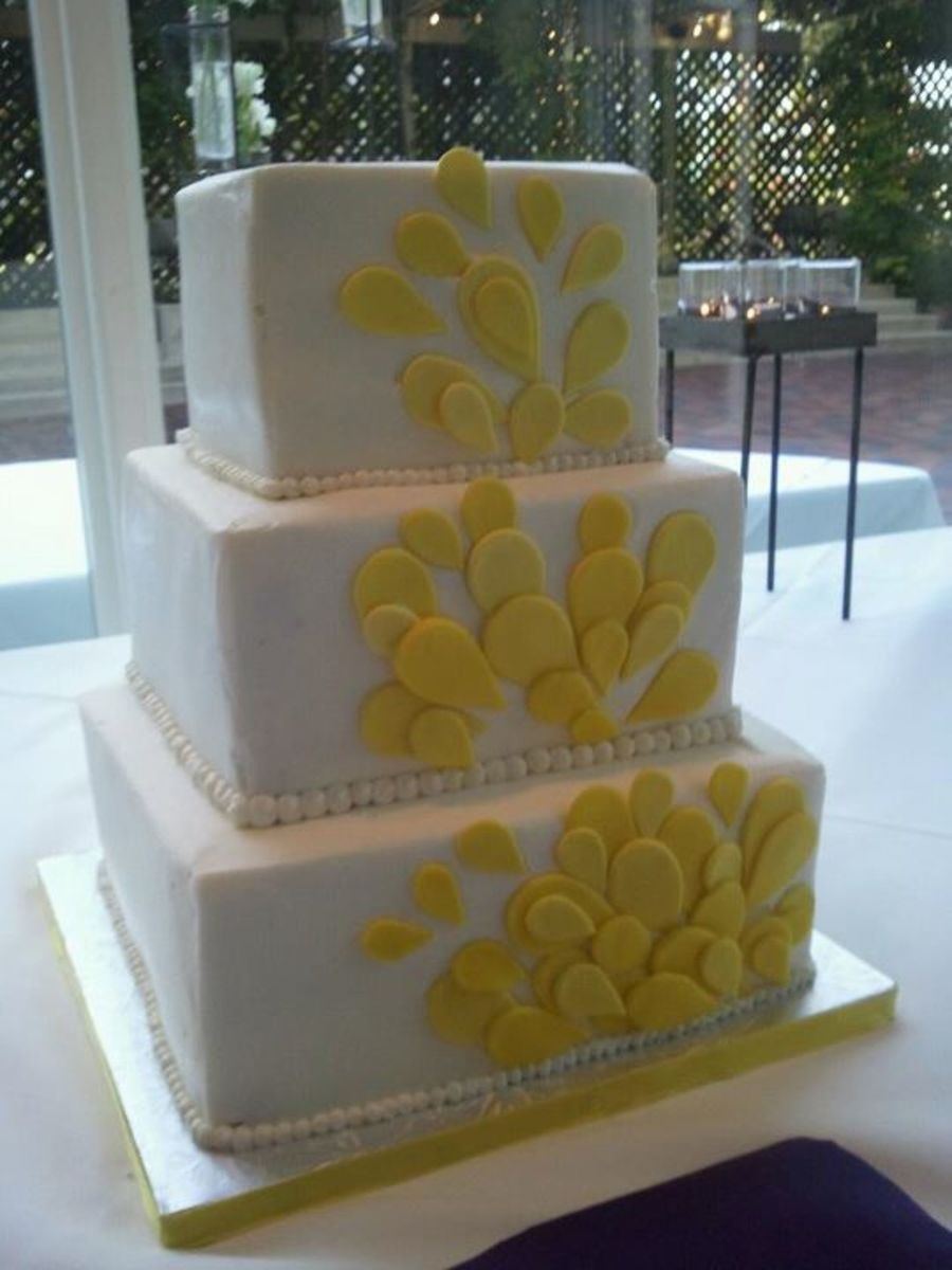 Tear Drop Wedding Cake on Cake Central