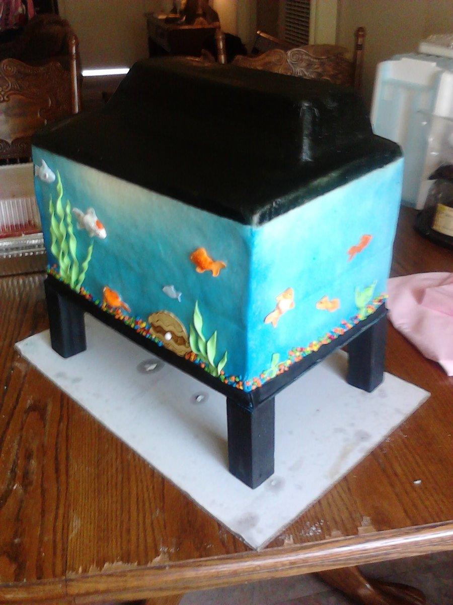 Fish tank cake for Fish tank cake designs