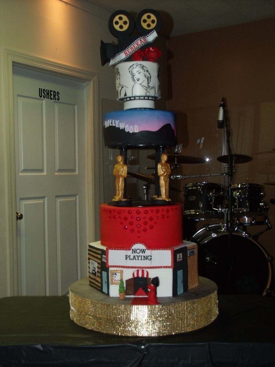 Rebekah S Old Hollywood Sweet 16 Cake Cakecentral Com