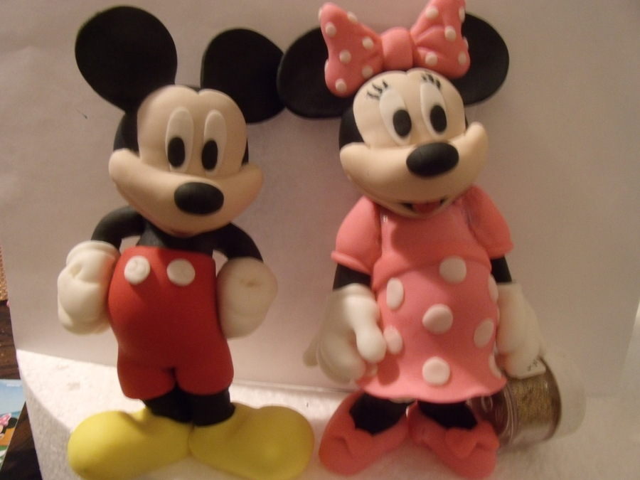 Mickey And Minnie Fondant on Cake Central