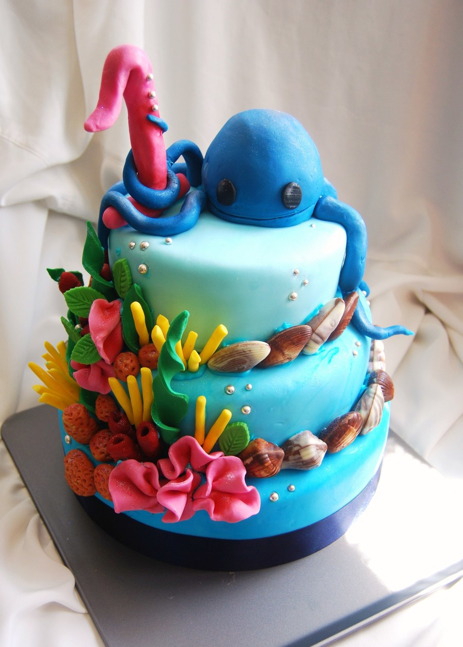 Octopus Reef Birthday Cake on Cake Central