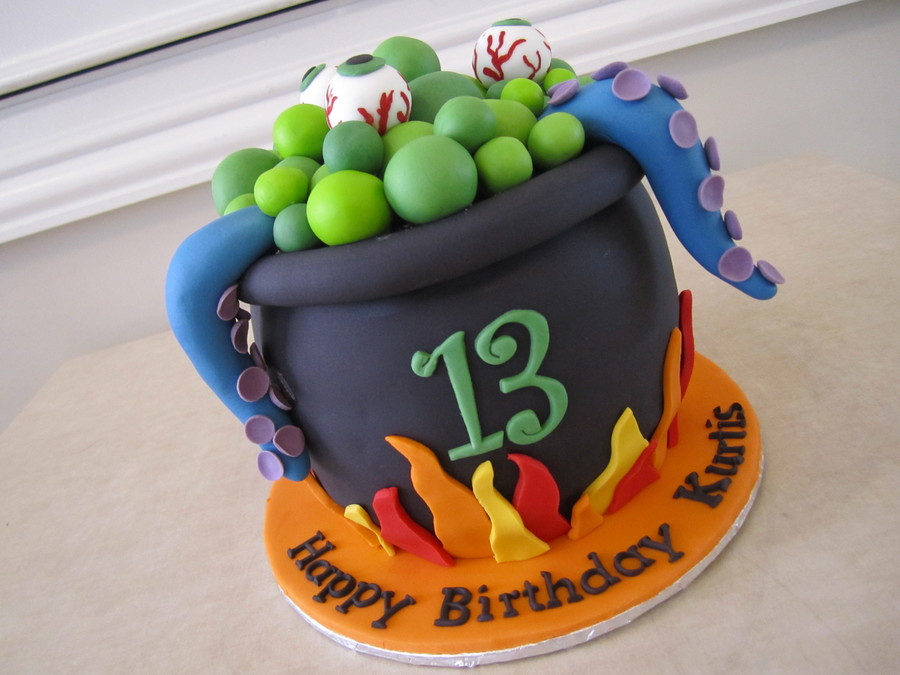 This Cake Was Actually Made For A Birthday In April The Child Was A Huge Halloween Fan Not My Original Design Its Been So Long Since I  on Cake Central