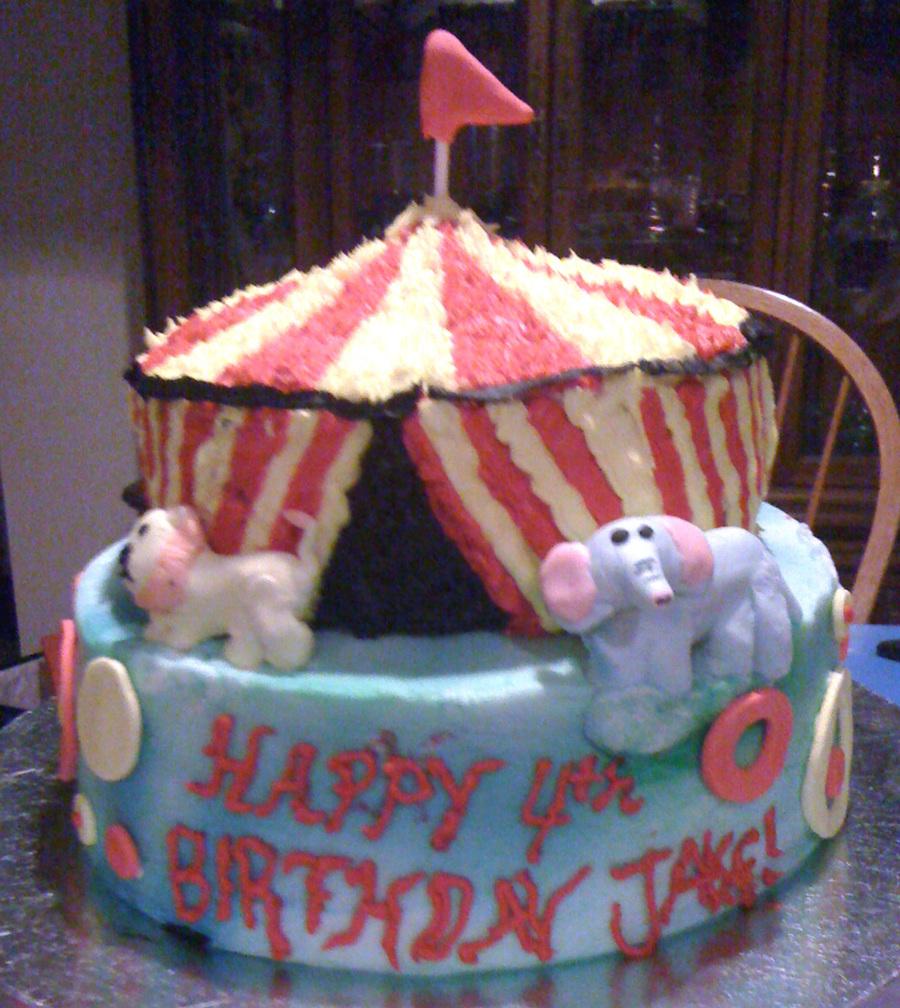 & Circus Tent Cake - CakeCentral.com