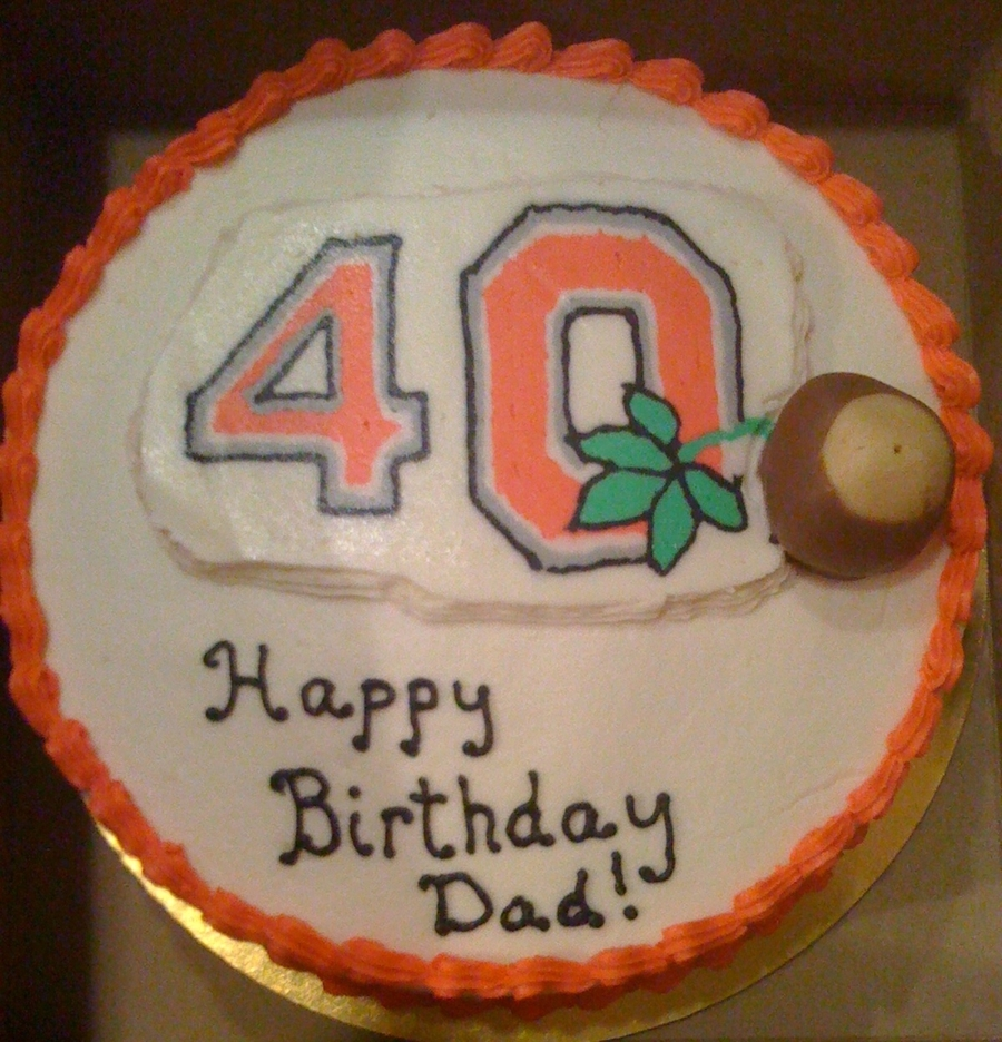 40Th Birthday Buckeye Fan on Cake Central