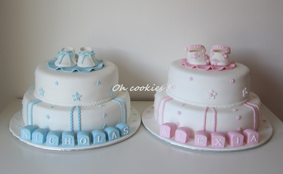 Christening Cake Designs For Twins : Twins Christening Cakes - CakeCentral.com