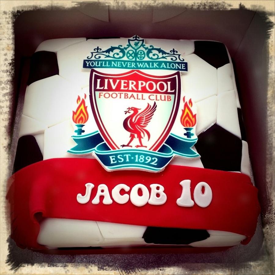 Liverpool Birthday Cake Pic