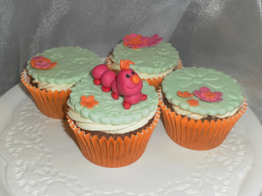 Catapillar / Flower Cupcakes on Cake Central