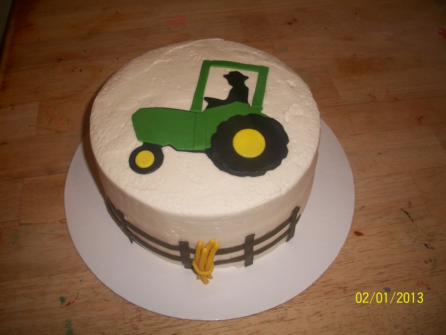 Tractor Farmer Fence Cake on Cake Central