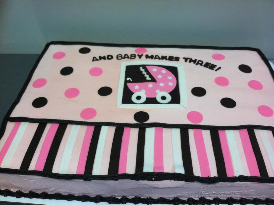 Baby Carriage Shower Cake  on Cake Central