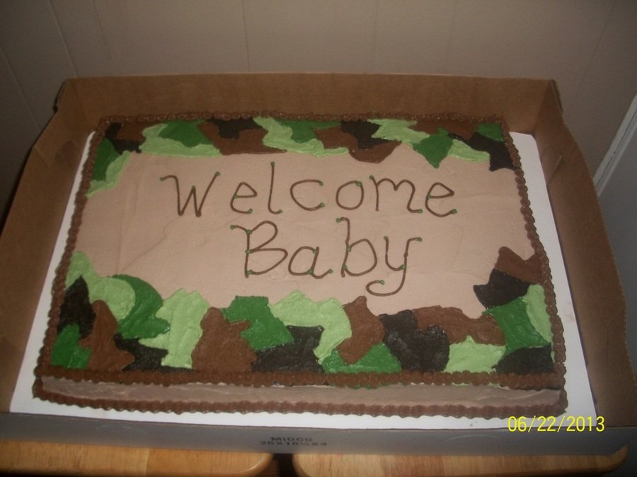 Camo Baby Shower Cake On Cake Central