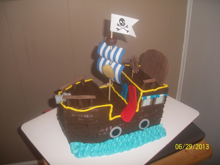 Jake And The Neverland Pirates Cake Bucky The Pirate Ship on Cake Central
