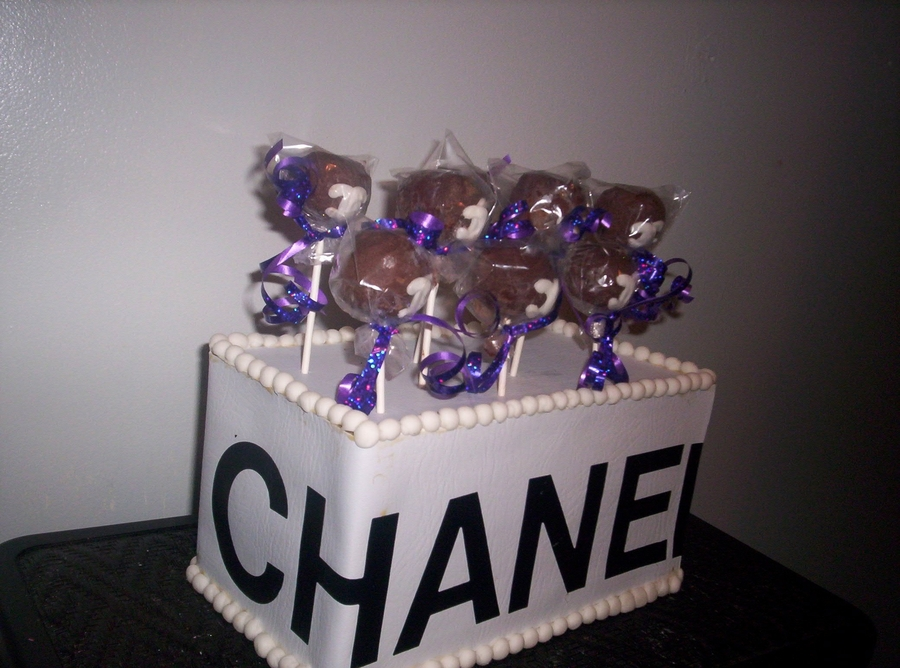 Chanel Cakepops on Cake Central